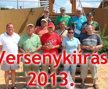 V. Izsáki Horgász- és Pihenőpark Egyéni Horgászkupa – versenykiírás